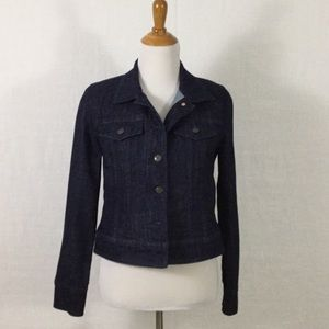 J. Crew dark rinse denim jacket - perfect basic!